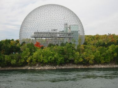 The Montréal Biosphere, designed by Richard Buckminster Fuller who's name went to Buckyballs and Fullerenes
